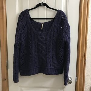**Free People Cropped High Low Sweater**